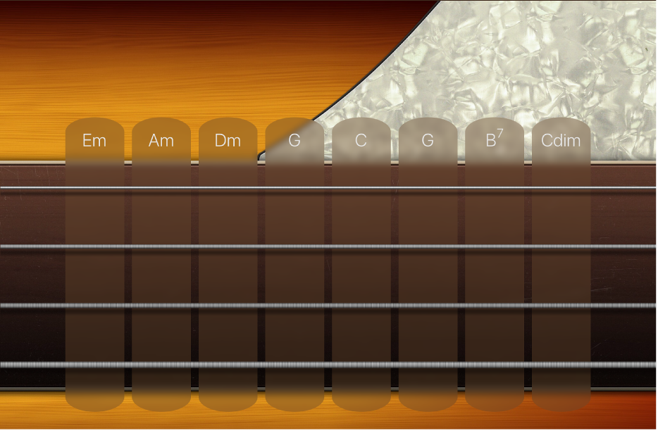 Hình. Dải hợp âm ghi-ta bass.