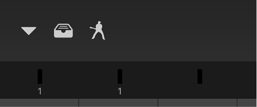 圖表。控制列下方的音量測量器條板。