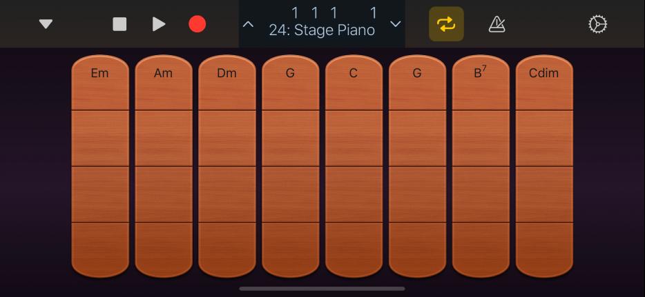 """Abbildung. Darstellung """"Akkord-Strips"""" für Streichinstrumente."""