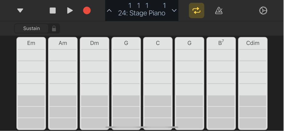 Figure. Keyboard Chord Strips.