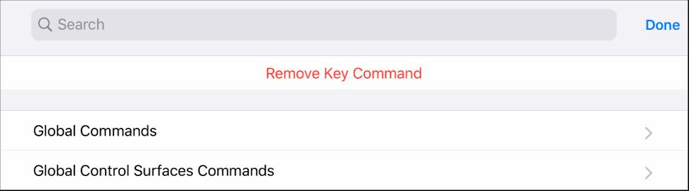 Figure. Key Commands sheet.
