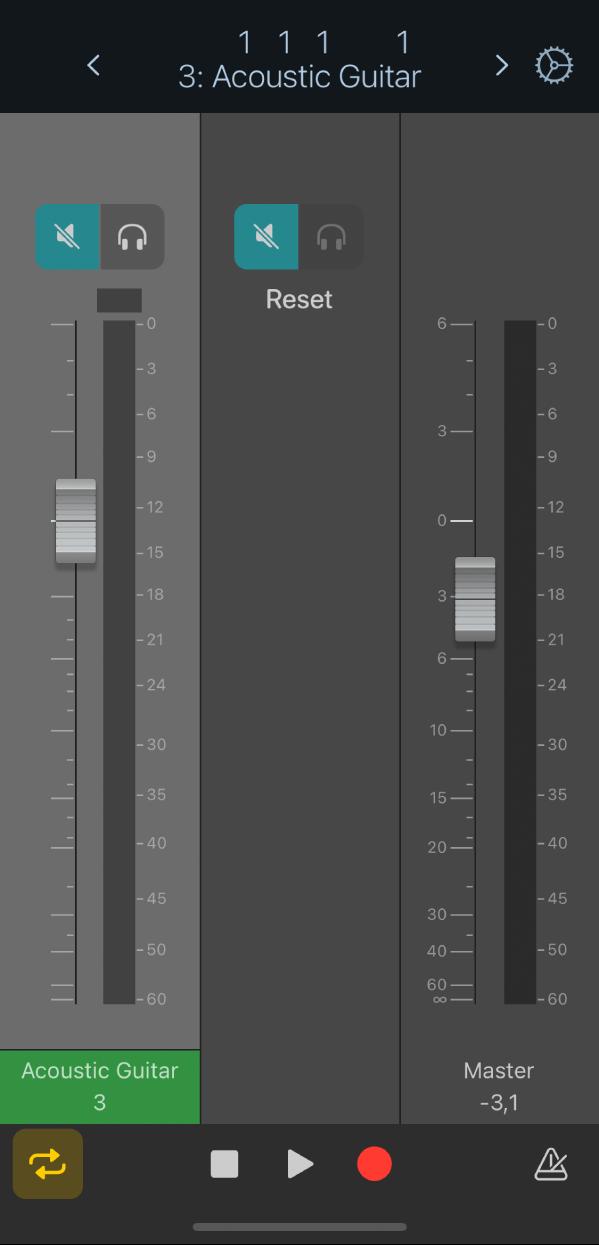 Figure. Default Mixer view.