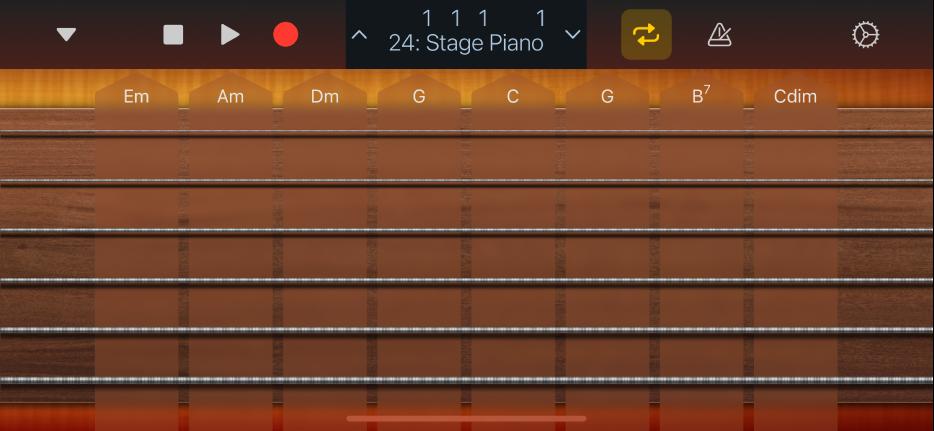Figure. Guitar Chord Strips.