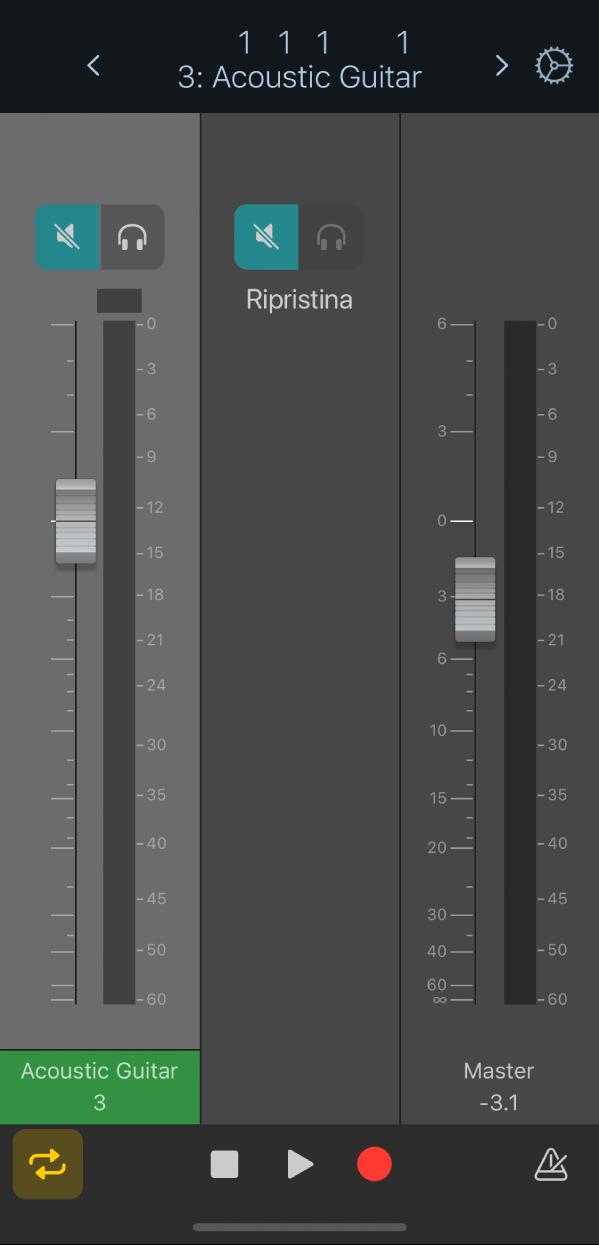 Figura. Vista Mixer di default.