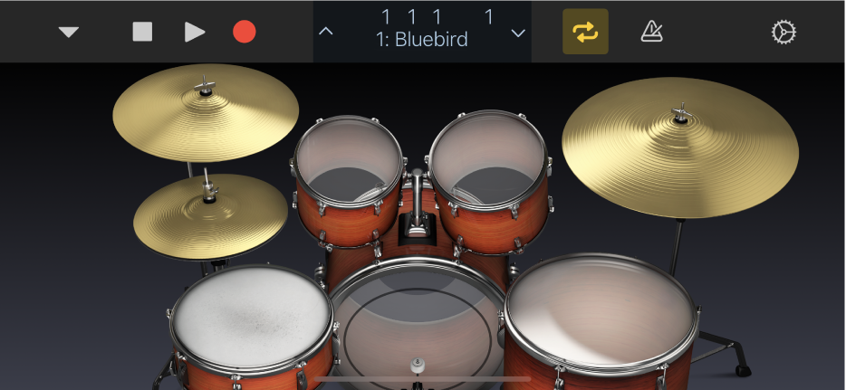 Figura. Kit di percussioni acustiche.
