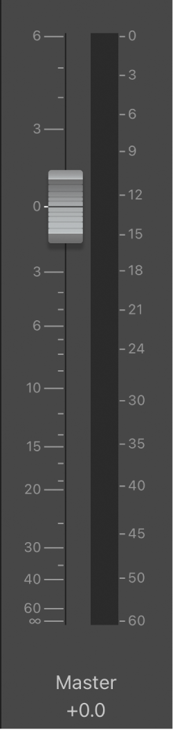 Figura. Controle deslizante Volume Principal.