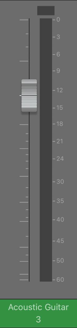 Figura. Controle deslizante de volume.