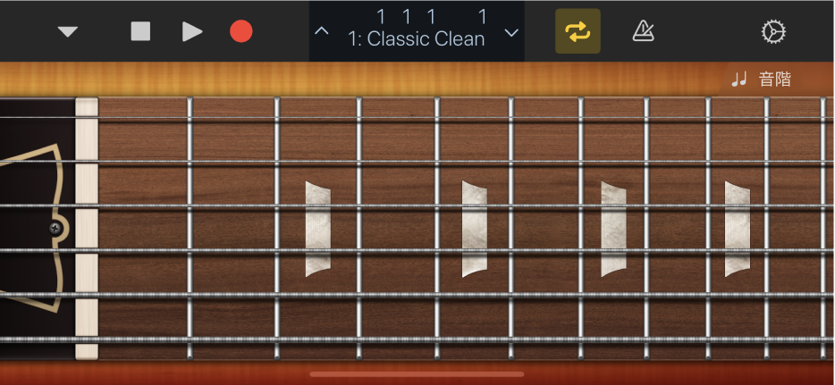 圖表。吉他觸碰式樂器。
