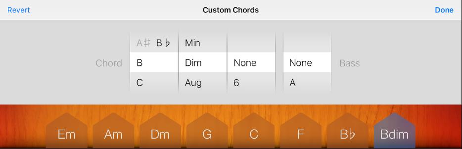 Figure. Chord and Bass wheels.
