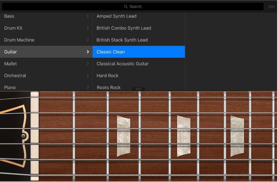 Figure. Guitar Touch Instrument with Library.