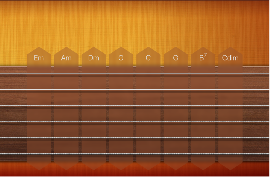 Figure. Guitar Chord Strips.