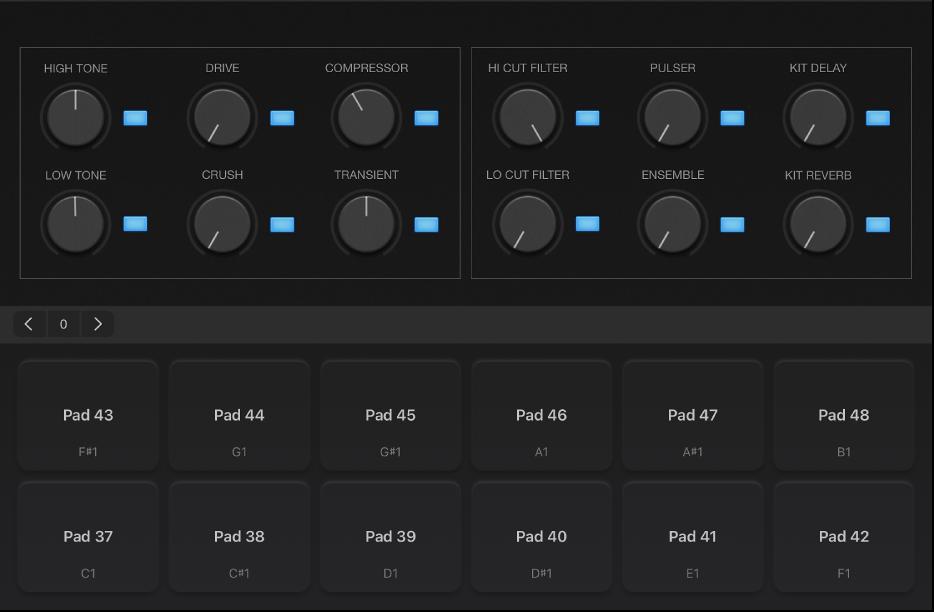 Figure. Half-screen drum pads.
