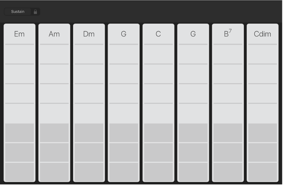 Slika. Trake akorda za klavijaturu.