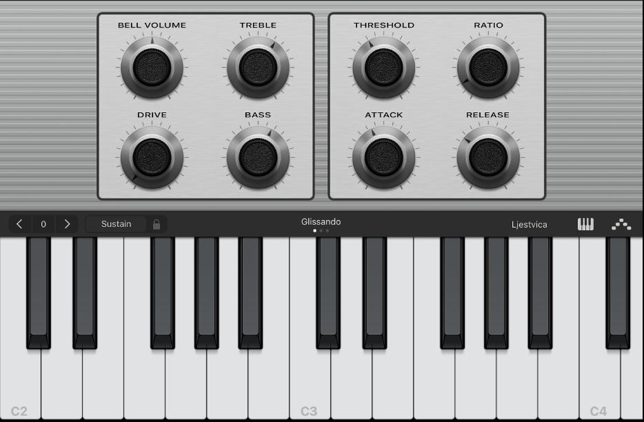 Slika. Dodirni instrument klavijature