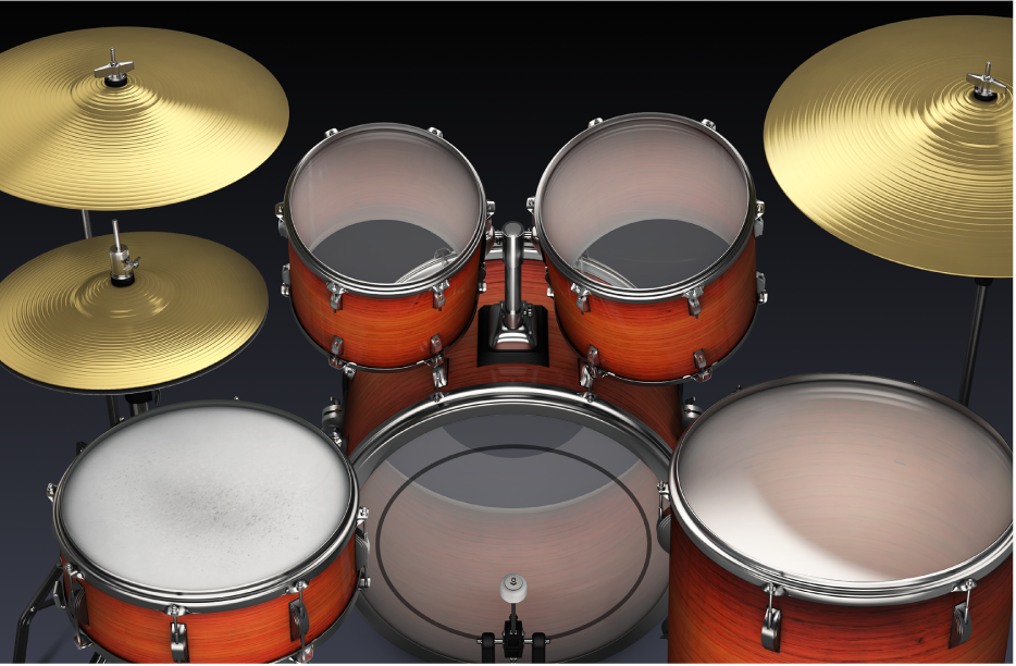 Afbeelding. Akoestisch drumstel.