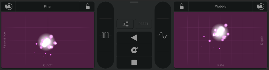 Controlos de Remix FX.