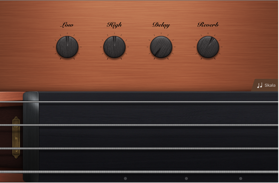 "Abbildung. Touch-Instrument ""Strings""."