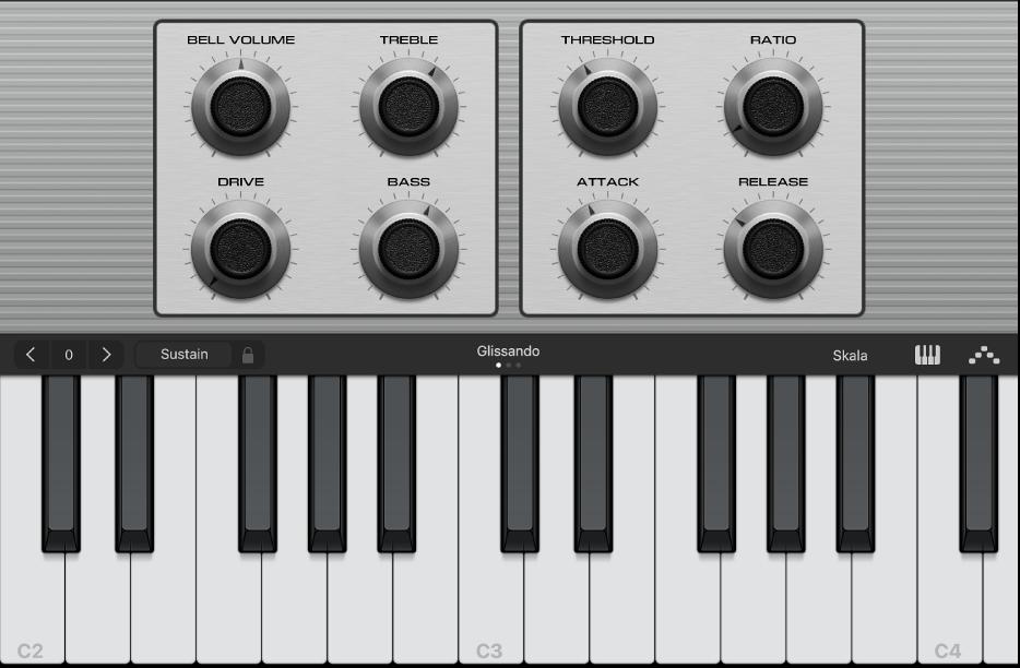 Abbildung. Smart Controls und Touch-Instrument.