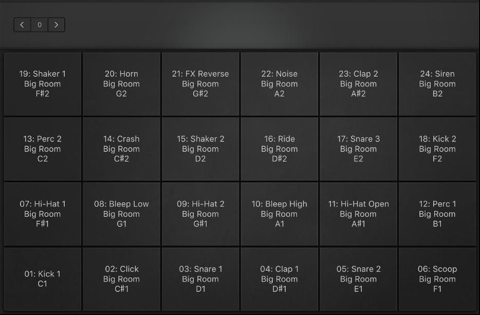 Figure. Full-screen drum pads.