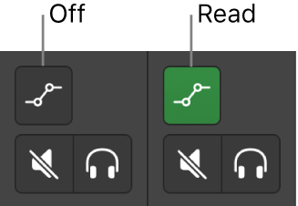 Figure. Automation Mode buttons showing both automation mode states.