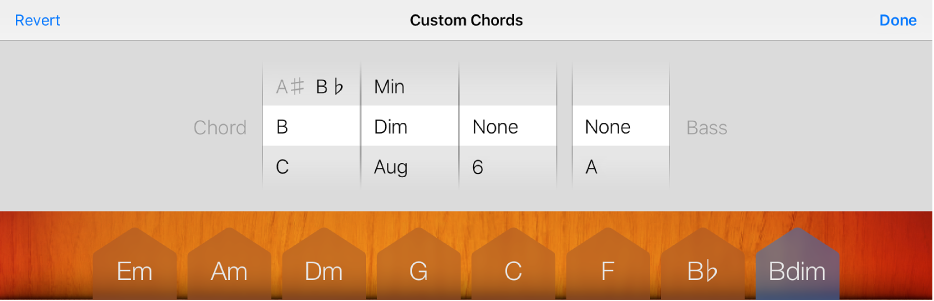 Figure. Chord and Bass wheels.