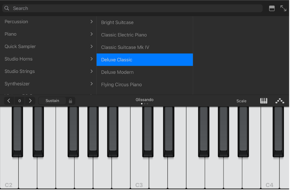 Figure. Keyboard Touch Instrument with Library.