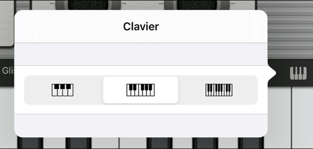 Figure. Menu contextuel de taille du clavier.