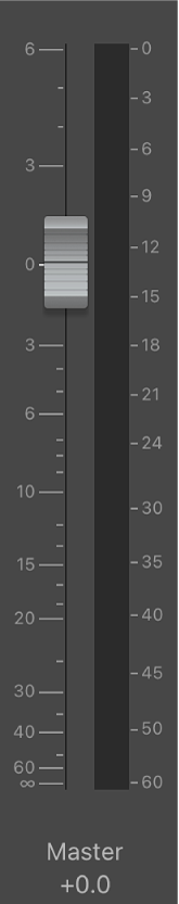 Figure. Curseur de volume principal.