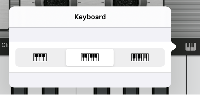Afbeelding. Venstermenu 'Keyboardformaat'.