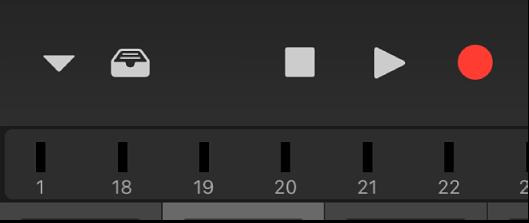 Figura. Faixa de medição de níveis sob a barra de controles.