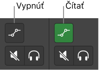 Obrázok. Tlačidlá Režim automatizácie znázorňujúce oba stavy režimu automatizácie.