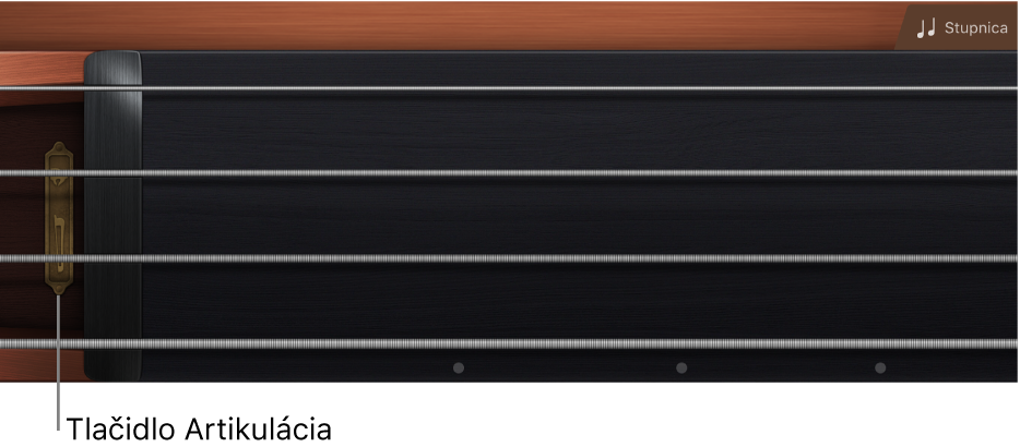 Obrázok. Hmatník sláčikových nástrojov.