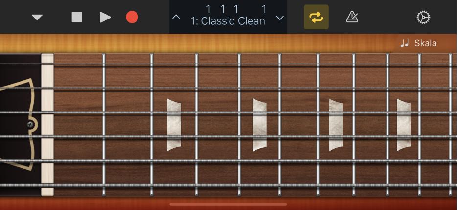 """Abbildung. Touch-Instrument """"Gitarre""""."""