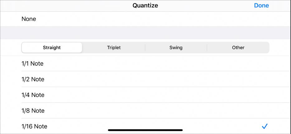 Cell Quantize menu.