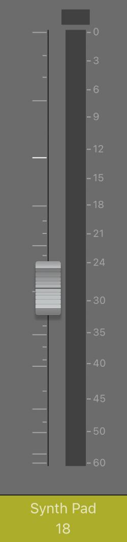 Figure. Volume fader.