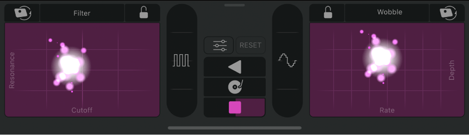 Controles de Remix FX.