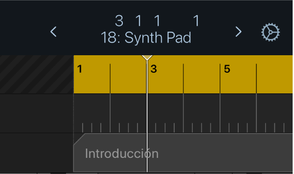 Ilustración. Área de ciclo debajo de la pantalla de la barra de controles.