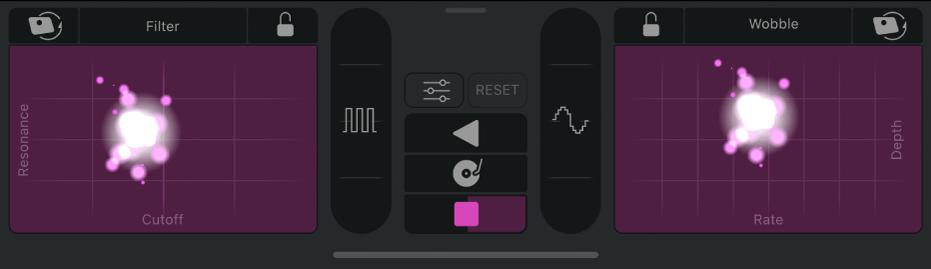 Commandes d'effets Remix.