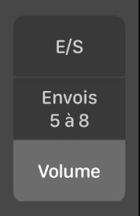 Figure. Boutons de modification de la présentation Table de mixage.
