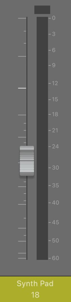 Figure. Curseur de volume.