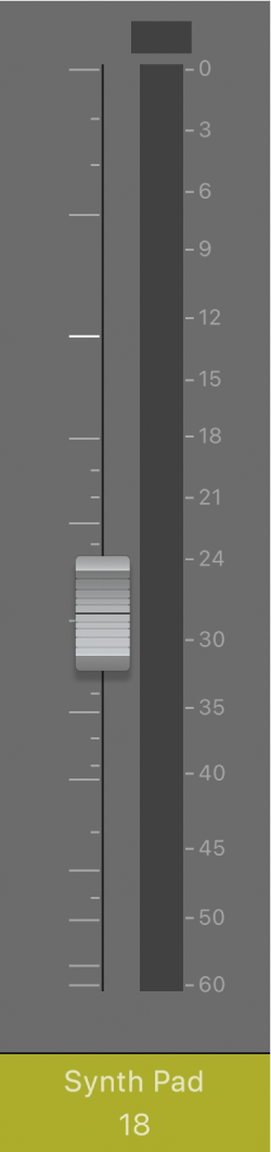 図。ボリュームフェーダー。