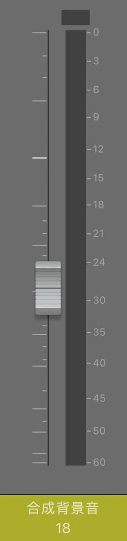 圖表。「音量」推桿。