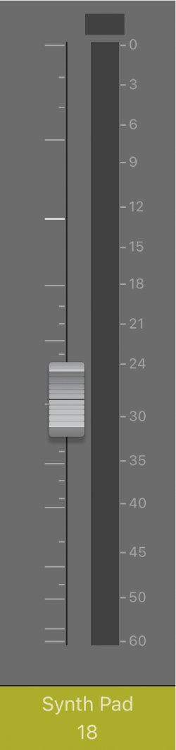 圖表。「音量」推子。