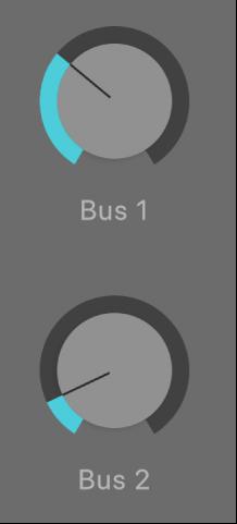 圖表。「傳送音量」旋鈕。