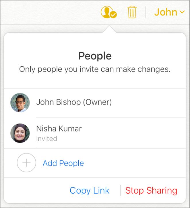 Seznam účastníků stlačítkem Přidat uživatele ve spodní části.