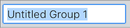 The Create Group text field.