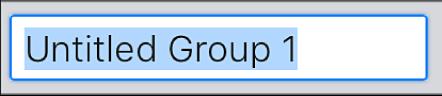 Campo de texto Crear grupo.