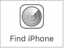The Find iPhone button on the iCloud.com sign-in website.