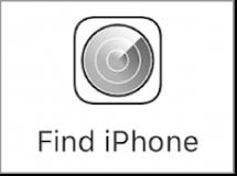iCloud.com 登入網站上的「尋找我的 iPhone」按鈕。