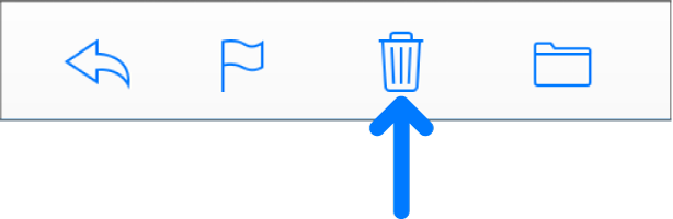 The Delete Selected Messages button in the toolbar.